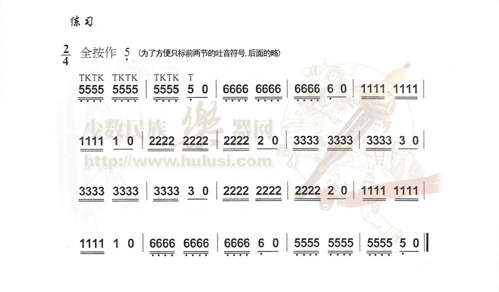 《葫芦丝初学宝典——技巧练习》★曲谱 音频 (999x585)