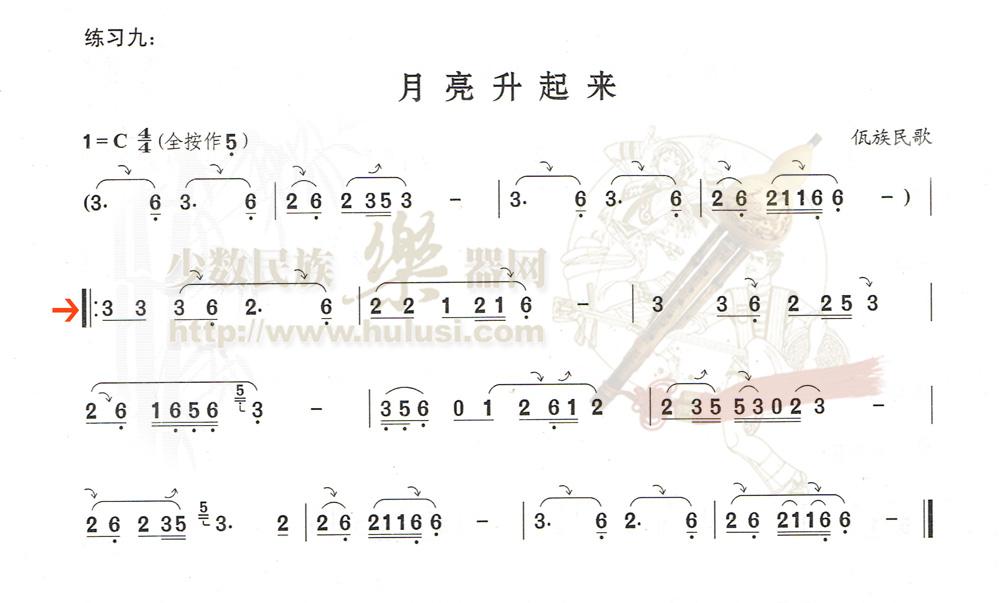 《葫芦丝初学宝典——技巧练习》★曲谱 音频☆胡晓老师示范