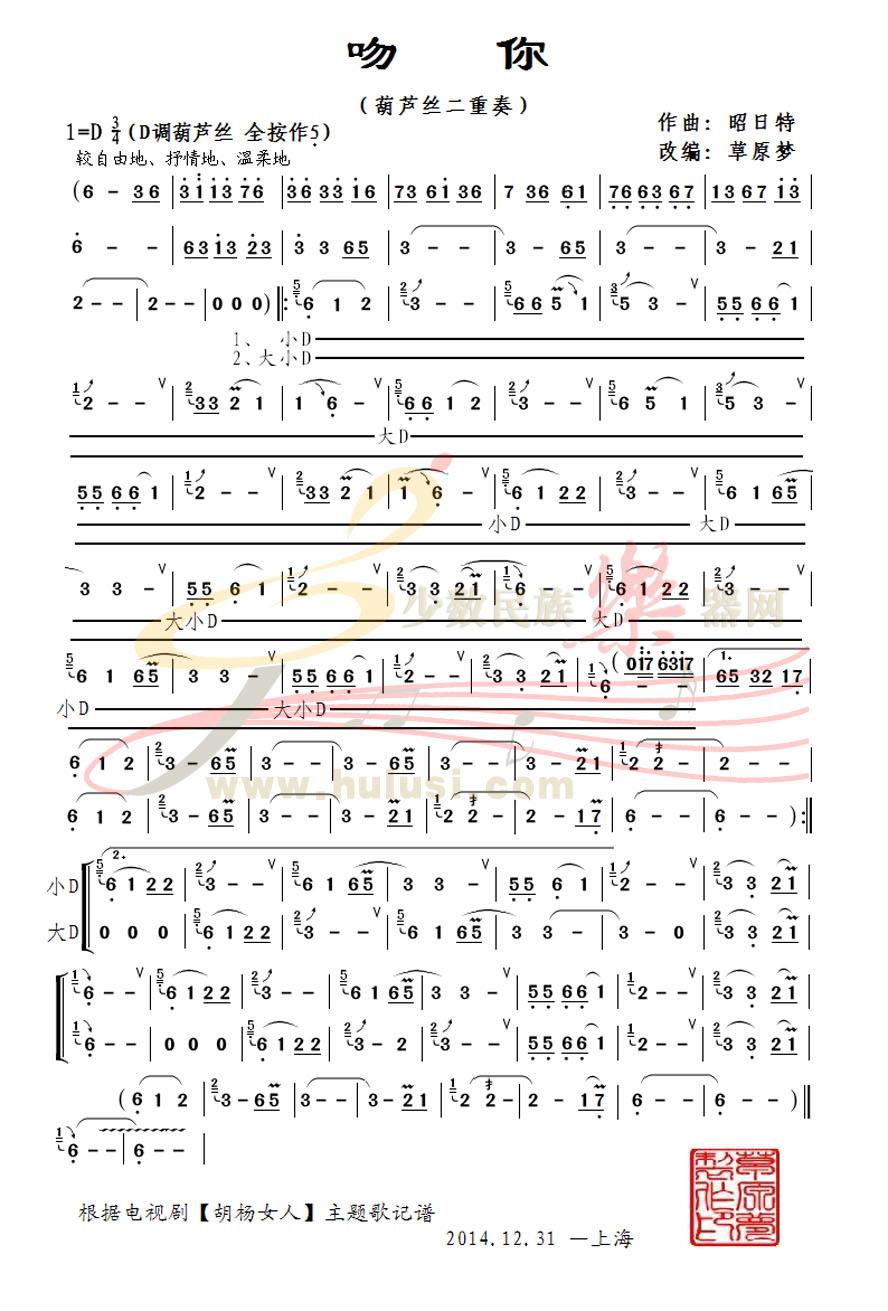 超七孔孔葫芦丝曲谱 天边展示